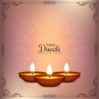 Gelukkig diwali-festival die traditionele achtergrond begroeten