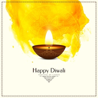 Gelukkig diwali-festival traditioneel ontwerp