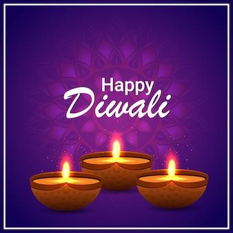 Gelukkig diwali-festival van lichte vieringskaart