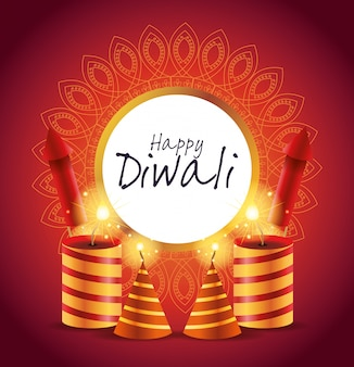 Gelukkig diwali indian celebration design