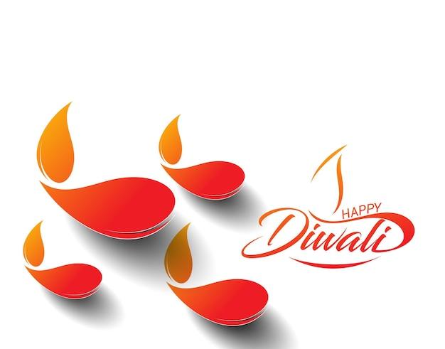 Gelukkig diwali-tekstontwerp. vectorillustratie.