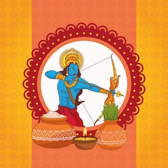 Gelukkig dussehra-festival van india