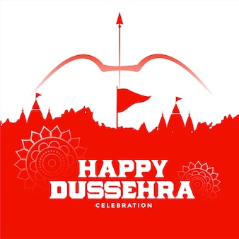 Gelukkig dussehra indisch festival wensen kaart