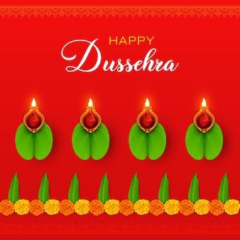 Gelukkig dussehra vijayadashami-festival navratri durga puja