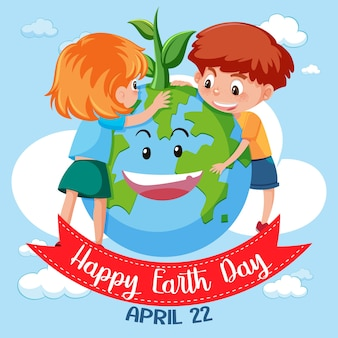 Gelukkig earth day-pictogram