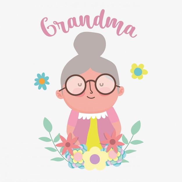 Gelukkig grootouders dag cartoon