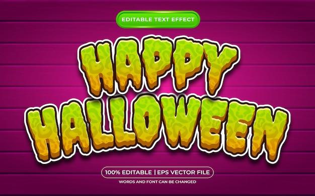 Gelukkig halloween bewerkbaar tekststijleffect geschikt voor halloween-evenement