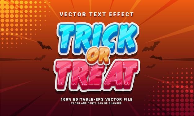 Gelukkig halloween bewerkbaar tekststijleffect geschikt voor halloween-evenementthema