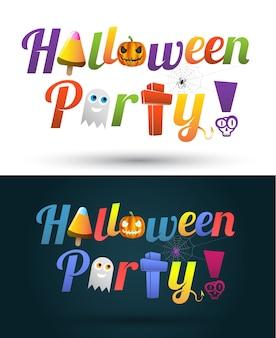 Gelukkig halloween-de tekstontwerp van de partij