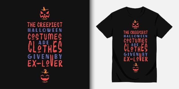 Gelukkig halloween en t-shirtontwerp