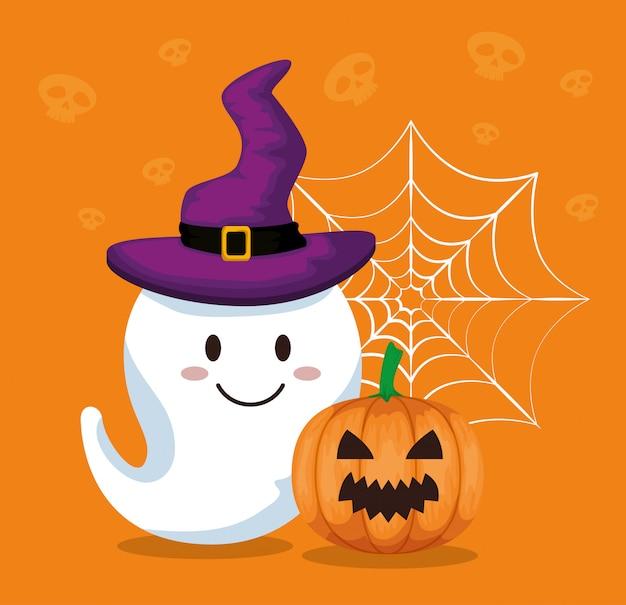 Gelukkig halloween met gosth