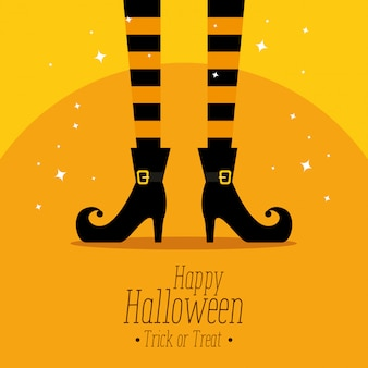 Gelukkig halloween met heksenvoeten