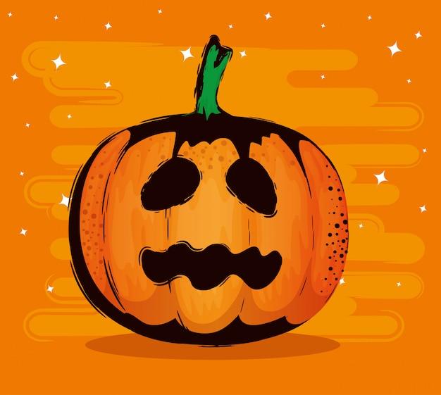 Gelukkig halloween met pompoen