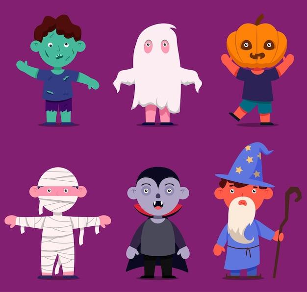 Gelukkig halloween-monsterkarakter voor roman en verhaal