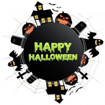 Gelukkig halloween-pictogram