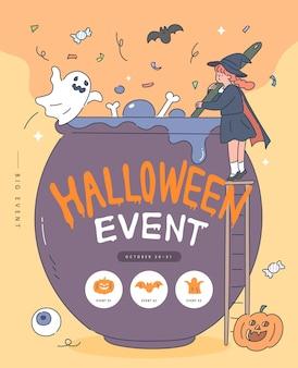 Gelukkig halloween-poster.