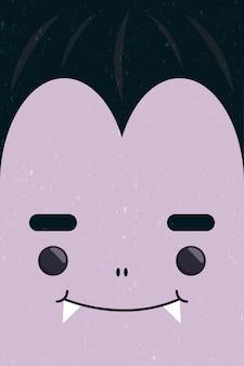 Gelukkig halloween schattig dracula gezicht karakter