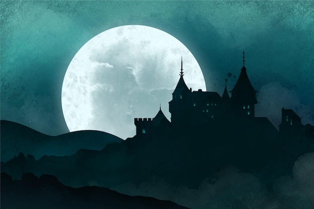 Gelukkig halloween-thema als achtergrond