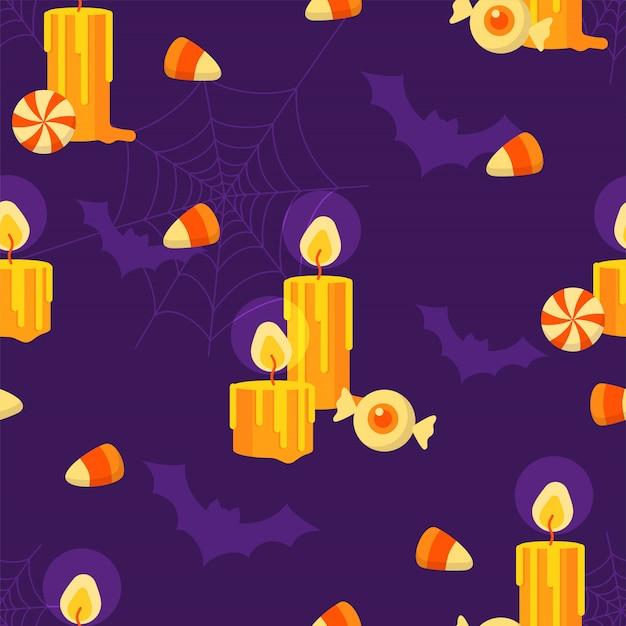 Gelukkig halloween-vakantie naadloos patroon.