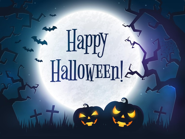 Gelukkig halloween-wenskaart
