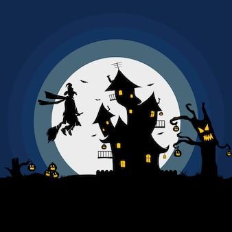 Gelukkig hallowen logo-ontwerp