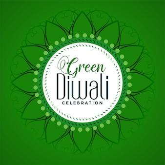 Gelukkig het festivalconcept van eco organisch diwali