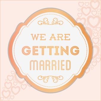 Gelukkig huwelijk ontwerp