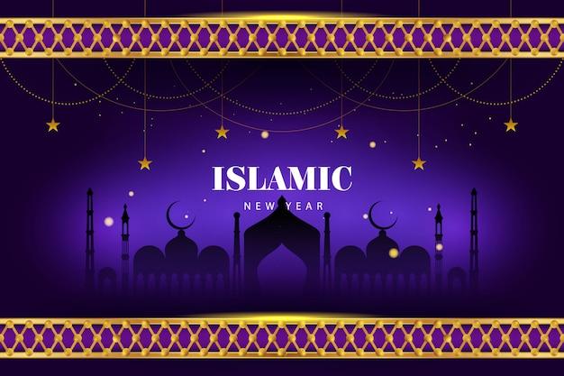 Gelukkig islamitische nieuwjaar moslim festival achtergrond