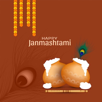 Gelukkig janmashtami viering religieuze achtergrond