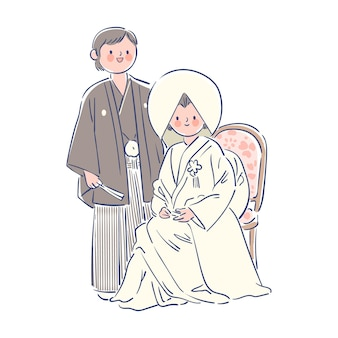 Gelukkig japans huwelijk