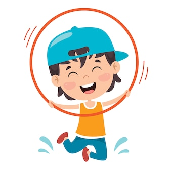 Gelukkig kind doen gymnastiek oefening