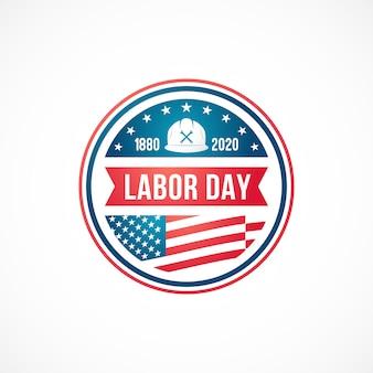 Gelukkig labor day-badge.