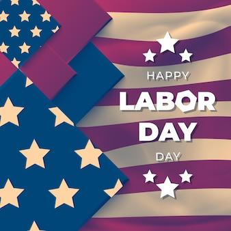 Gelukkig labor day poster