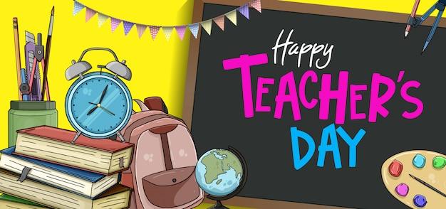 Gelukkig leraar dag banner