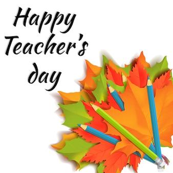 Gelukkig leraren dag banner