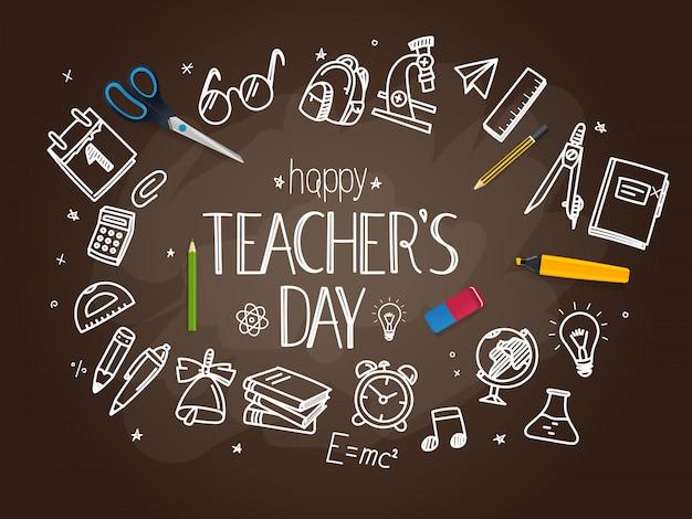 Gelukkig lerarendag concept