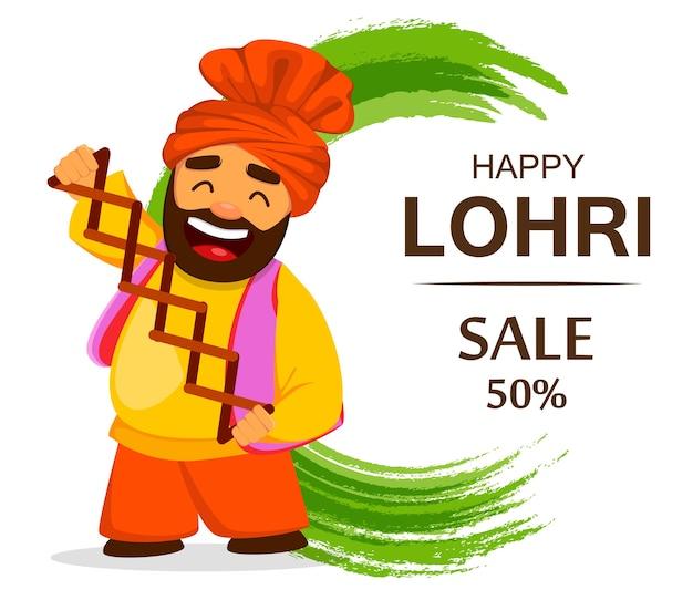 Gelukkig lohri, traditioneel festival van punjabi