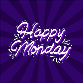 Gelukkig maandag - belettering
