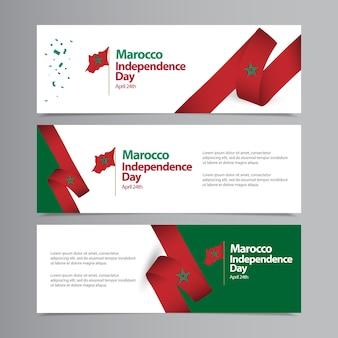 Gelukkig marokko onafhankelijkheidsdag viering sjabloon