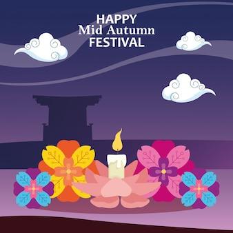 Gelukkig medio herfstfestival