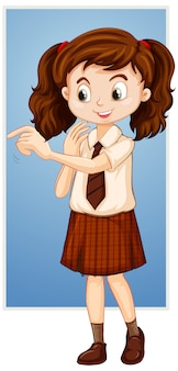 Gelukkig meisje in schooluniform