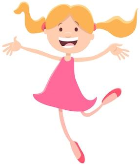 Gelukkig meisje karakter cartoon afbeelding