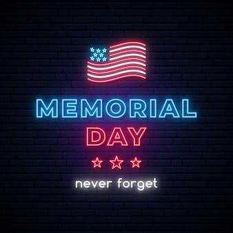 Gelukkig memorial day vector banner.