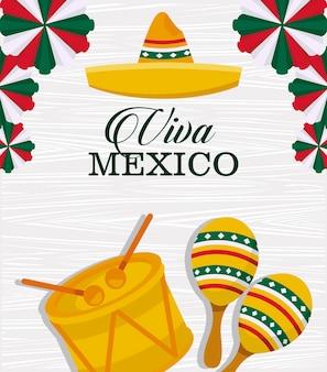 Gelukkig mexico onafhankelijkheidsdag briefkaart
