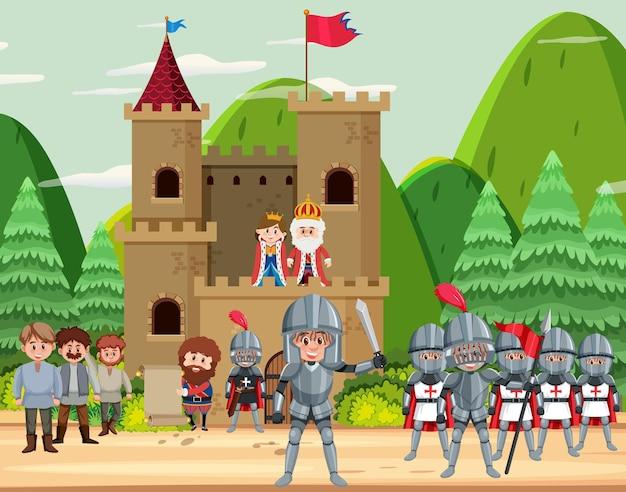 Gelukkig middeleeuwen koninkrijk