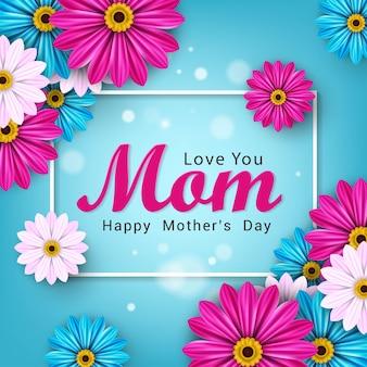 Gelukkig moeders dag banner grafisch ontwerp