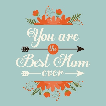 Gelukkig moeders dag kaart ontwerp, vectorillustratie.