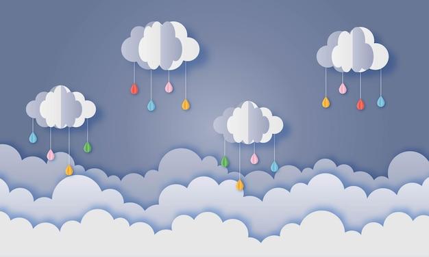 Gelukkig moessonseizoen papierkunst