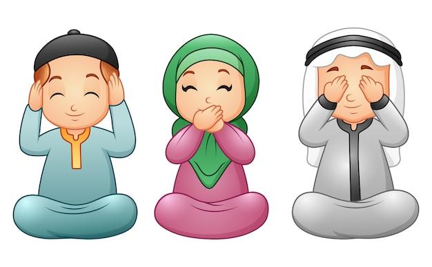Gelukkig moslimjongetje viert maand ramadan