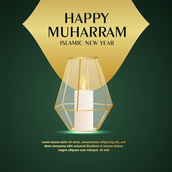 Gelukkig muharram islamitisch festival viering wenskaart